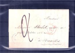 Lettre De Louvain Vers Bruxelles - 28-Mai-1847 (à Voir) - 1830-1849 (Belgique Indépendante)