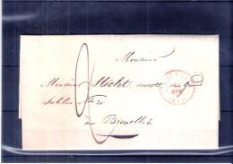 Lettre De Louvain Vers Bruxelles - 24-Avr-1848 (à Voir) - 1830-1849 (Belgique Indépendante)