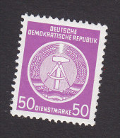 DDR, Scott #O14, Mint Never Hinged, Arms Of Repbulic, Issued 1954 - Service