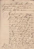 *E605 CUBA INDEPENDENCE WAR ESPAÑA . DOC DE MAMBI EN EL PRESIDIO DE CEUTA 1902 - Documentos Históricos