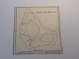"Wallis Et Futuna 1785 Cook Benard Map Of The Island ""Isles De Wallis"" French Polynesia (carte Geographique) - Geographical Maps"