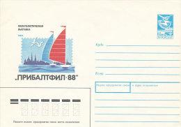 Stationery Cover Ganzsache Beleg Soviet Postally Mint PSE 1988 - Riga Int. Philatelic Exhibition Pribaltfil-88