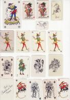 Lot De 17 Jokers Miniatures - Peu Fréquent - Cartes à Jouer
