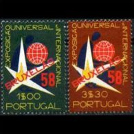 PORTUGAL 1958 - Scott# 830-1 Brussels Fair Set Of 2 MNH - 1910 - ... Repubblica