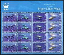 TUVALU - Faune Marine, Baleines, Wwf - Feuillet Neufs // Mnh - W.W.F.