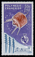French Polynesia, 1965, Centenary Of The International Telecommunication Union, ITU, Michel #44, Scott #C33, MNH, Per... - Polynésie Française