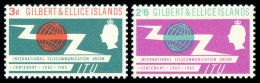 Gilbert And Ellice Islands, 1965, Centenary Of The International Telecommunication Union, ITU, Michel #82-3, Scott #8... - Gilbert & Ellice Islands (...-1979)