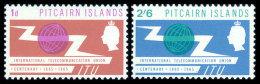 Pitcairn Islands, 1965, Centenary Of The International Telecommunication Union, ITU, Michel #52-3, Scott #52-3, MNH, ... - Timbres