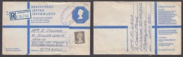 G.B. EIIR, REGISTRATION & POSTAGE £1.04 + 11 1/2p, Used Warrington, ST HELENS MERSEYSIDE 2 FE 1982 > Stoke - Entiers Postaux