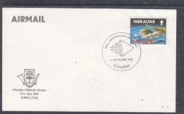 Gibraltar Philatelic Bureau, Unaddressed Envelope, Special Cancel 100th ANNIVERSARY OF BLAND 4 SEPT 1991 - Gibraltar