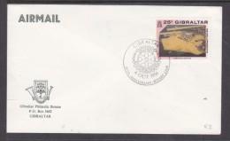 Gibraltar Philatelic Bureau, Unaddressed Envelope, Special Cancel 25th ANNIVERSARY ROTARY CLUB  4 OCT 1991 - Gibraltar