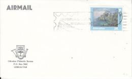 Gibraltar Philatelic Bureau, Unaddressed Envelope, Slogan Cancel  GIBRALTAR STAMPS + C.d.s. For 1 OCT  91 - Gibraltar