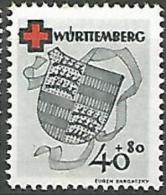 WURTEMBERG N�  41 NEUF*TRACE DE  CHARNIERE / MH