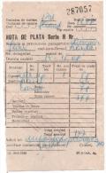 Facture - Nota De Plata - Baciu Mare 14/15-08-1990 [Roumanie - Romania - Rumänien] - Invoices & Commercial Documents