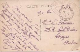 MAROC - POSTE AUX ARMEES KHENIFRA 27-3-1931 - CACHET OVALE + CERCLE  DE KHENIFRA - VUE GENRALE DU CAMP. - Briefe U. Dokumente