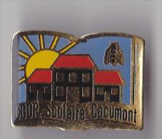 PIN´S  THEME VILLE DE COCUMONT  EN LOT ET GARONNE    COOP SCOLAIRE - Villes