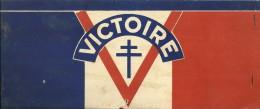 Défilé Du 14 JUILLET 1945 (Défilé De La Victoire) - CALOT CARTONNE Avec Les Différents Drapeaux. - Historical Documents