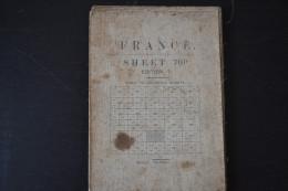 Carte Topographique Militaire Au 40.000 De Laon Et Région Champagne En 1918. Armée Anglaise N°70d - Cartes Topographiques