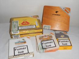 4211 - lot de 7 boites de cigares encore scell�es - cohiba - habanos pour collectionneur