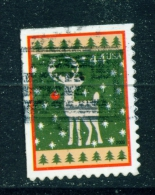 USA  -  2009  Christmas  44c  Used As Scan - United States