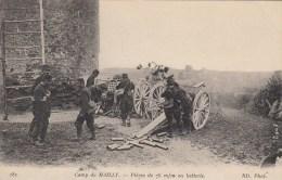 Camp De Mailly - Pièces De 75 M/m En Batterie - Ausrüstung