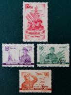 25 EME ANNIVERSAIRE DE L'ARMEE DE LA LIBERATION 1952 - NEUFS SG - YT 951/54 - MI 184/87 - Nuevos