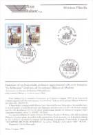 Italia 1999 - Accademia Militare Di Modena. Bollettino Con Francobollo E Annullo FDC - 6. 1946-.. República