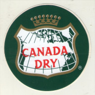 AUTOCOLLANTS . STICKER .   CANADA DRY - Autocollants