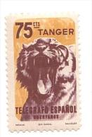 F1257 - TANGER Telegrafo Espanol - Tigre Tigher TANGERI MAROCCO - Francobollo Nuovo - Morocco (1956-...)