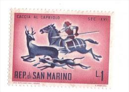 F1262 - Caccia Al Capriolo Cane Dog Cavallo Horse - Francobollo Nuovo - Repubblica Di San Marino - San Marino
