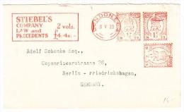 "GB  Freistempel 8.5.1930 London ""Stiebel's Company"" Brief Nach Berlin - Poststempel - Freistempel"
