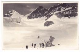 AK Motiv Flugzeug Unfall Von Robert Ackermann 17.8.1919 Häfeli DH3 Ungebraucht Foto J. Baeny - Accidents