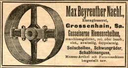 Original-Werbung/ Anzeige 1908 - EISENGIESSEREI MAX BEYREUTHER / GROSSENHAIN - Ca. 95 X 50 Mm - Publicités
