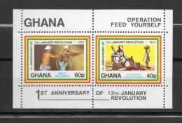 GHANA BLOC N° 47 NEUFS SANS CHARNIERE COTE 3.25€ ANNIVERSAIRE DE LA REVOLUTION - Ghana (1957-...)