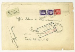 I. REGNO -  LETTERA RACCOMANDATA  DA PLEZZO PER ROMA  - ANNO 1938 - UFF. VERIFICA E COMPENSAZIONE - Storia Postale