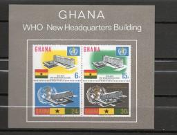 GHANA BLOC N° 21   NEUFS SANS CHARNIERE COTE 30.00€   OMS - Ghana (1957-...)