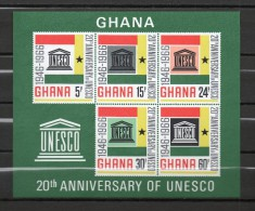 GHANA BLOC N° 23  NEUFS SANS CHARNIERE COTE 30.00€   UNESCO - Ghana (1957-...)