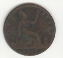 1 Penny Grande Bretagne / U.K. 1890 Victoria - 1816-1901 : Frappes XIX° S.