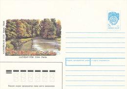 Stationery Cover Ganzsache Beleg Soviet Postally Mint PSE 1990 - Cesis Park