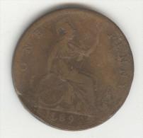 1 Penny Grande Bretagne / U.K. 1892 Victoria - 1816-1901 : Frappes XIX° S.