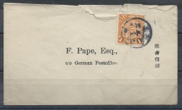 """1906 ! CHINA COVER 1c IMPERIAL COILING DRAGON SHANGHAI Local Post INDEX  """"J"""" CDS - China"""