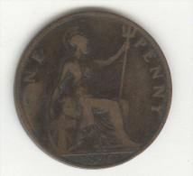 1 Penny Grande Bretagne / U.K. 1896 Victoria - 1816-1901 : Frappes XIX° S.