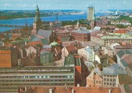 Stationery Postcard Ganzsache Beleg Soviet Mint 1981 - Riga Old Town View