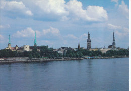 Stationery Postcard Ganzsache Beleg Soviet 1989 - Riga Daugava Riverbank Panorama