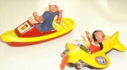 Gorgy Toys - POPEYE En Bateau Et OLIVE OYL En Avion - Corgi Toys