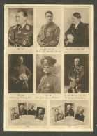 Grande CPA Gabler & Kohler Wehrmacht- Und Bürobedarf - Quelques Portraits : Goering, Hitler, Schlageter, Von Mackensen - Personen