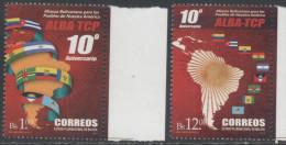 BOLIVIA, 2015,MNH, BOLIVARIAN ALLIANCE, FLAGS, 2v - Stamps