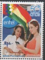 BOLIVIA, 2015,MNH, ENTEL, TELECOMMUNICATIONS,1v - Francobolli