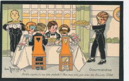 PUBLICITE - Jolie Carte Fantaisie Pub. Pour LES BISCUITS OLIBET Signée GASTON MARECHAUX - Publicité