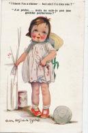 ENFANTS - LITTLE GIRL - MAEDCHEN - Jolie Carte Fantaisie Fillette Et Pot De Confitures - Illustrateur GWEN HAYWARD YOUNG - Autres Illustrateurs